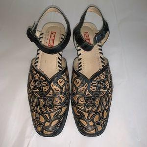 PIKOLINOS Ankle Strap Laser Cut Shoes 38